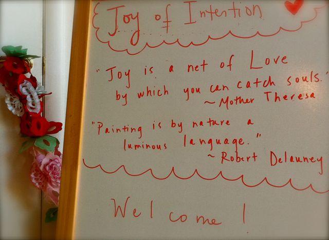 Joy of intention